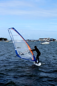 Andy tries out the Veloce with a 5m sail
